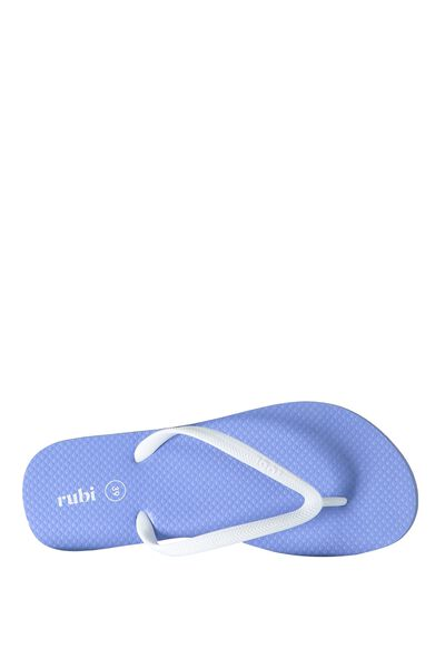 Rubi Thong, CORNFLOWER BLUE/WHITE STRAP