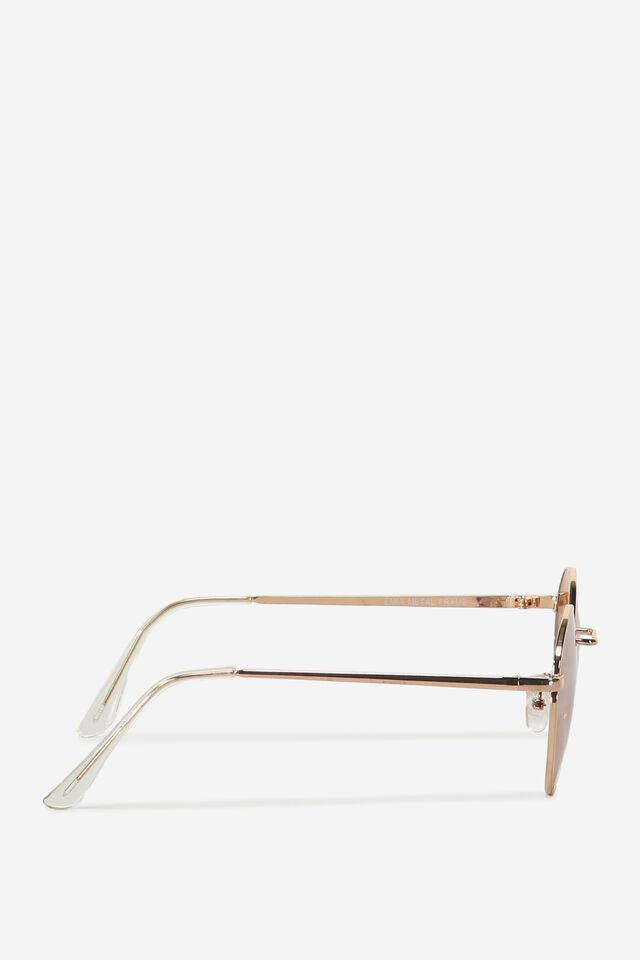 Emmi Metal Frame Sunglasses, ROSE GOLD