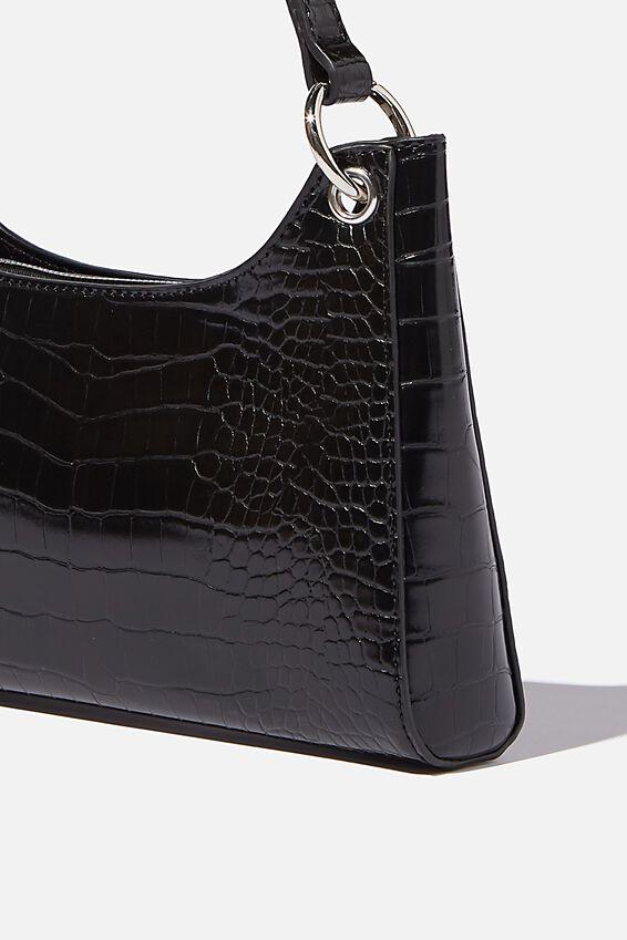 Gigi Underarm Bag, BLACK TEXTURE