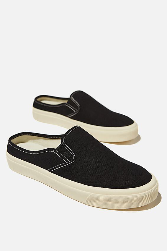 Miller Slip On Mule, BLACK