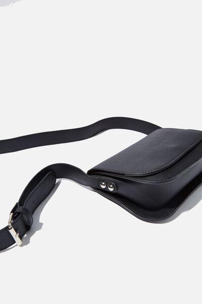 Saddle Cross Body Bag, BLACK PEBBLE