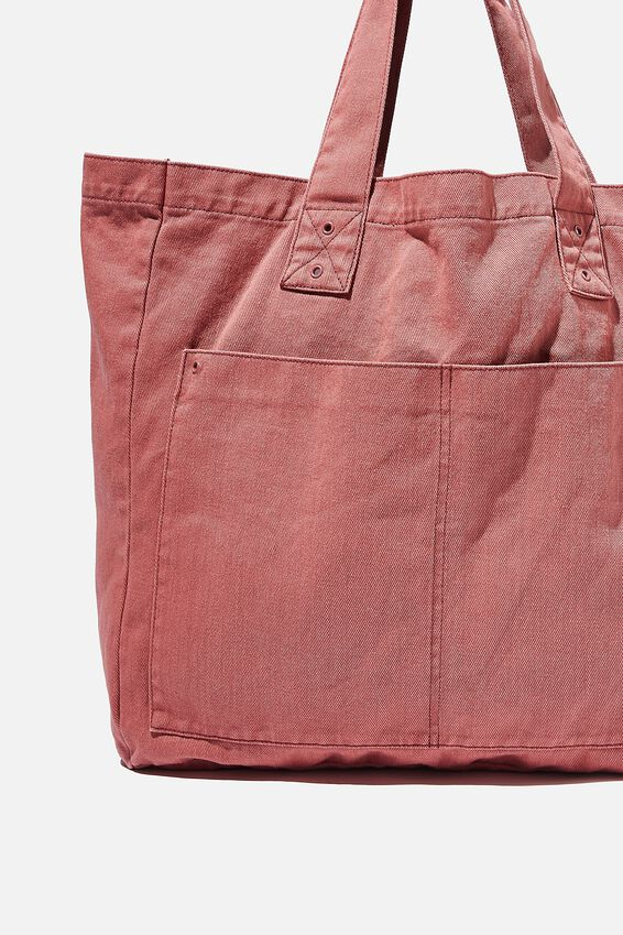 Max Washed Weekend Tote Bag, CANYON ROSE