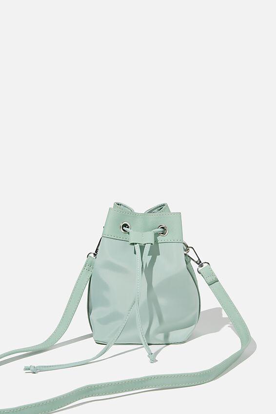 Nylon Bucket Bag, SPRING MINT