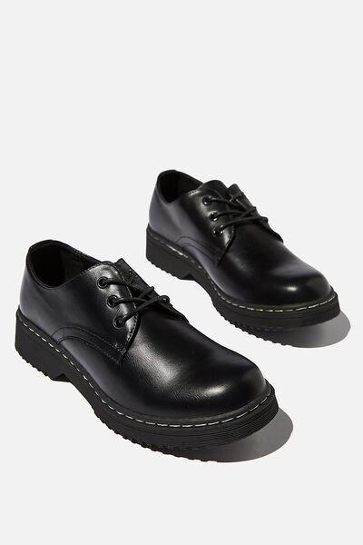 Andy Oxford Shoe, BLACK PU