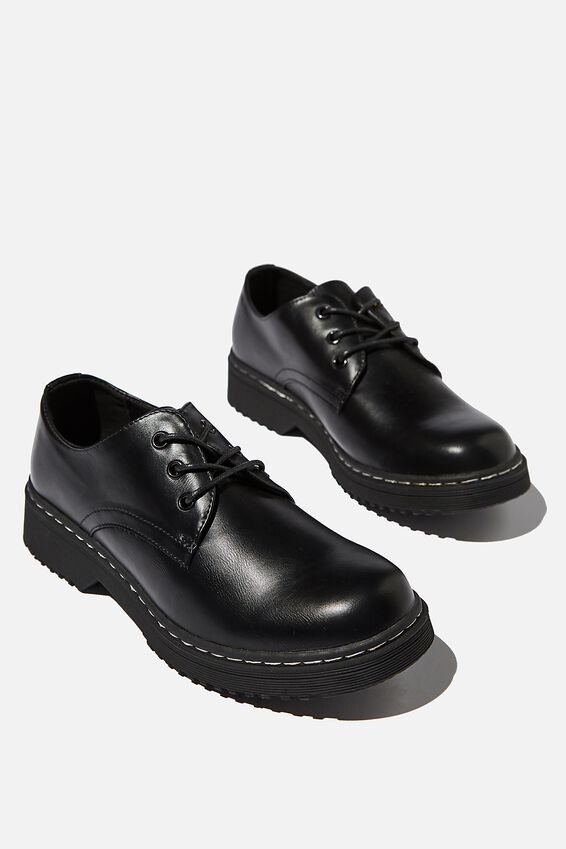 Andy Oxford Shoe, BLACK PU