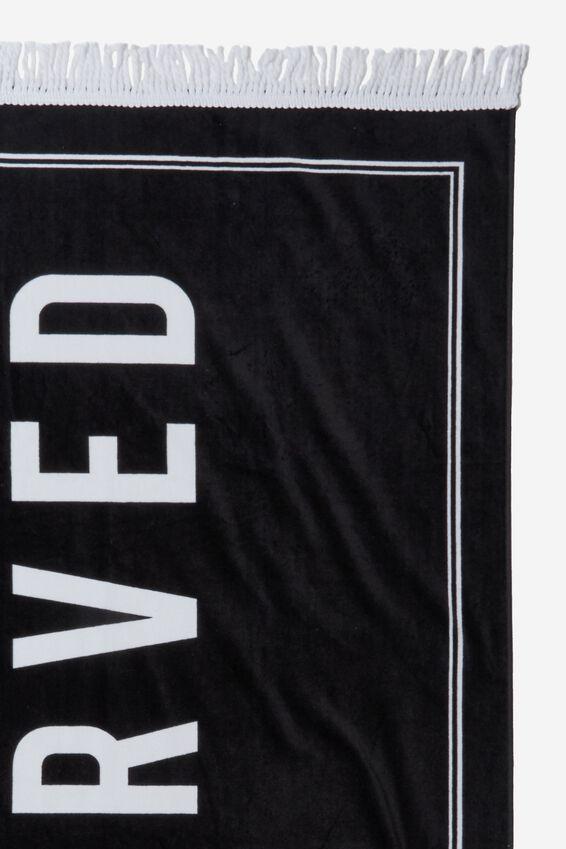 Bondi Rectangle Towel, BLACK RESERVED