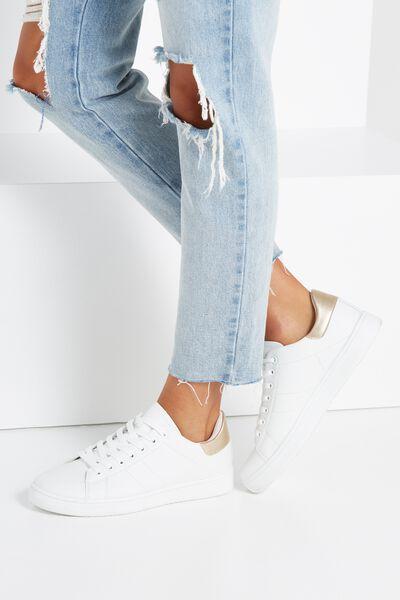 Cathryn Sneaker, WHITE/GOLD