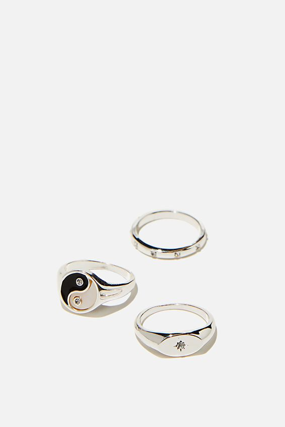 Brighter Days Ring Set, MOP YIN & YANG SILVER