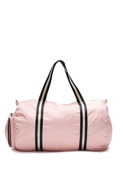 Istanbul Foldable Duffle Bag, FLAMINGO PINK