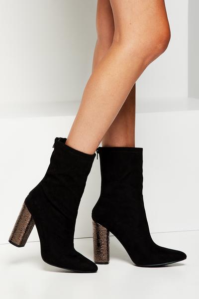 Ramone Sock Boot, BLACK/PEWTER