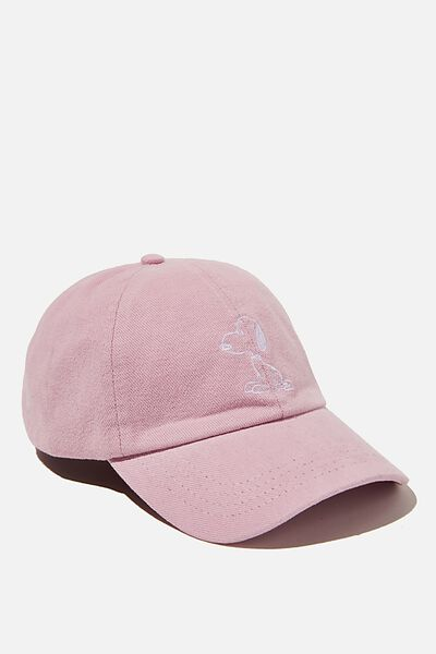 Graphic Dad Cap, LCN PEA SNOOPY OUTLINE/PINK