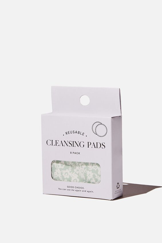 Reusable Cleansing Pads 8Pk, SOPHIE DITSY/SPRING MINT