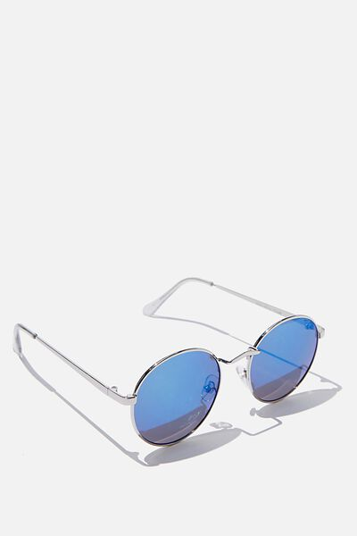 Emmi Metal Frame Sunglasses, BLUE REVO