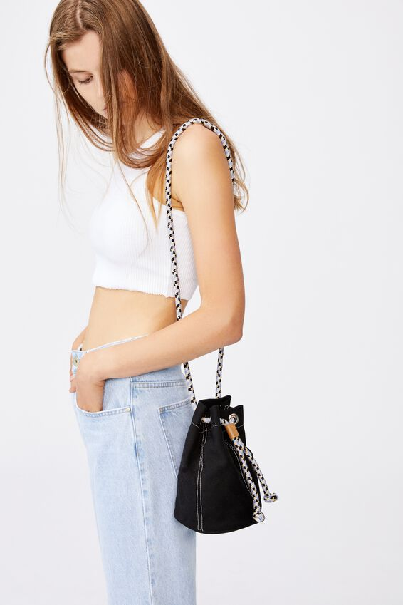 Day Tripper Bucket Bag, BLACK