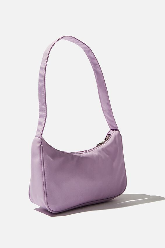 Nylon Underarm Bag, LILAC