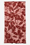 Bondi Rectangle Towel, PEACH MELON RETRO TROPICAL