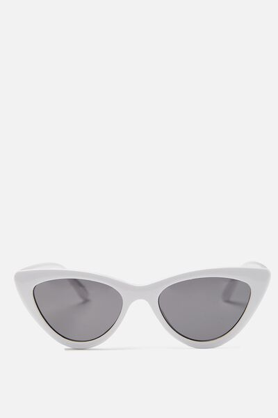 Narrah Short Frame Cateye, SHINY WHITE/SMOKE