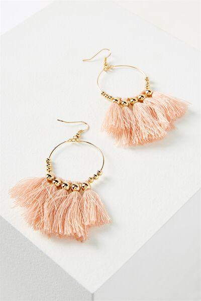 Cleo Tassel Earring, PINK