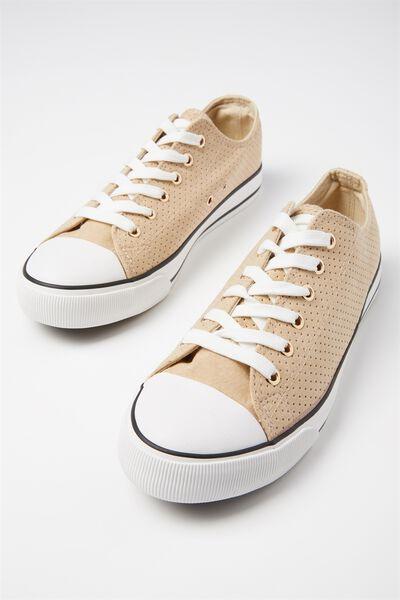 Jodi Low Rise Sneaker 1, CAMEL MICRO PERF