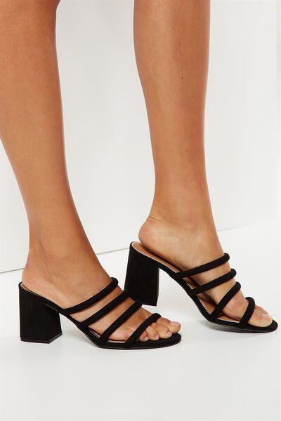 Conga Tubed Mule Heel, BLACK