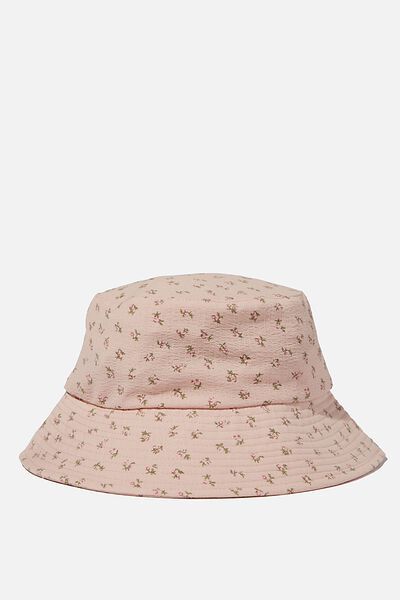 Bianca Bucket Hat, PALE PINK TEXTURED FLORAL