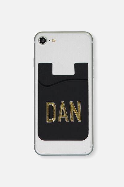 Personalised Phone Card Holder, BLACK