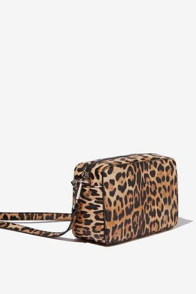Stevie Boxy Cross Body Bag, LEOPARD