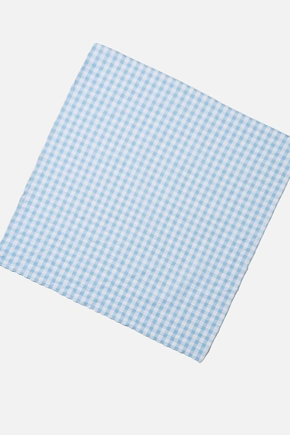 Soho Bandana, BLUE GINGHAM CHECK