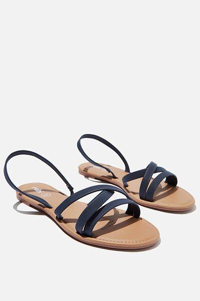 Everyday Lily Strappy Sandal, NAVY NUBUCK