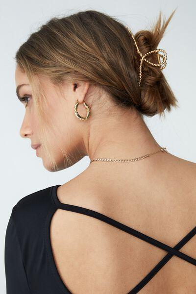 Metal Remi Hair Claw, GOLD