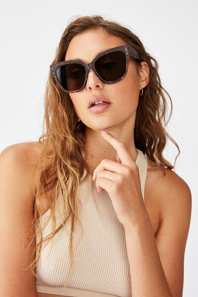 Lee Oversized Sunglasses, MATTE TORT