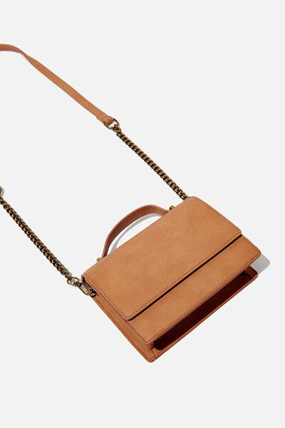 Aria Chain Strap Cross Body Bag, TAN