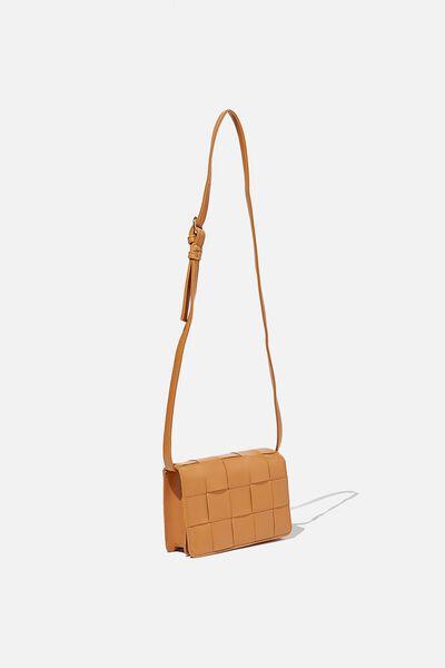Christy Woven Cross Body Bag, HERITAGE TAN