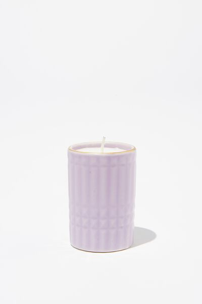 Body Embossed Candle, LILAC