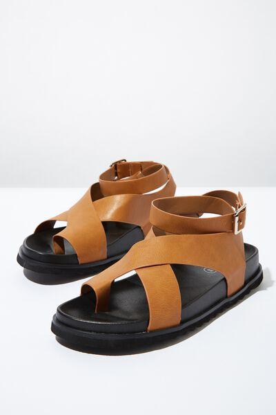 Ivy Toe Loop Chunky Sandal, TAN PU