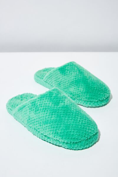 The Plush Slipper, SPEARMINT MINI TEXTURE