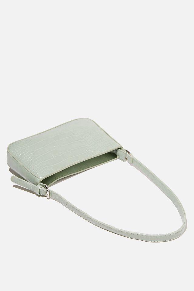 Lexi Underarm Bag, GREEN TEXTURE