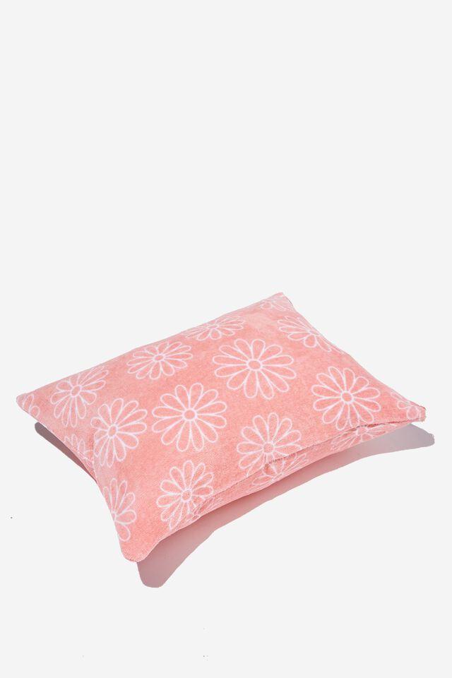 Fairhaven Beach Pillow, PINK DAISY