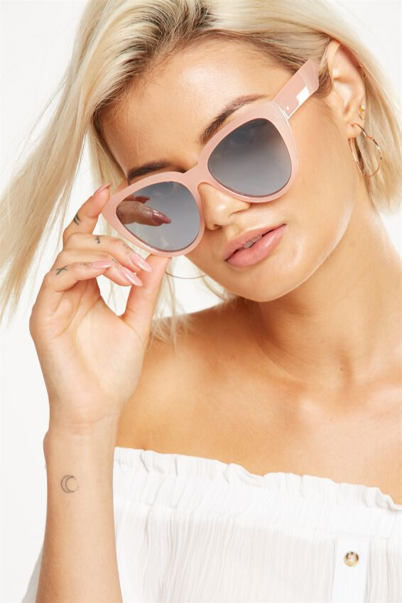 Clem Top Bar Sunglasses, S.MILKY SAND