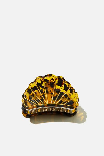 Athena Shell Hair Claw, CLASSIC TORT