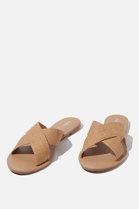 Everyday Scarlett Xover Slide, RAFFIA