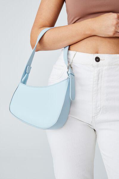 Angular Shoulder Bag, BLUE