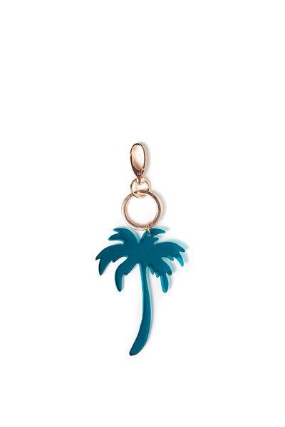 Palm Tree Keyring, MEDITERRAINIAN/ROSE GOLD