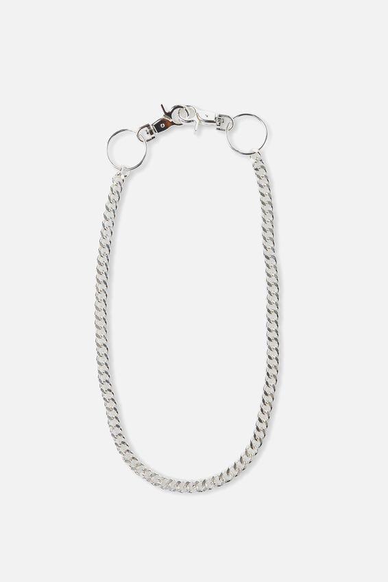 Wallet Chain Single, SILVER