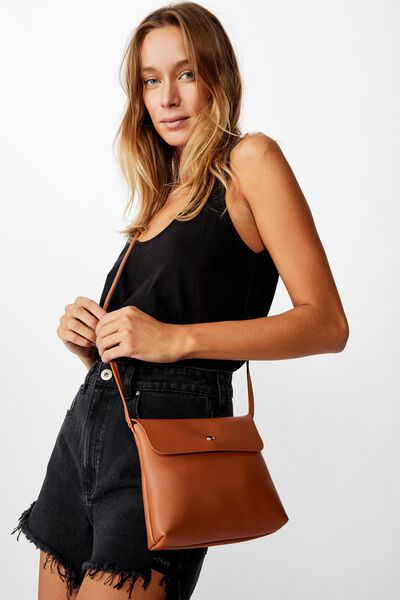 Felicity Cross Body Bag, TAN