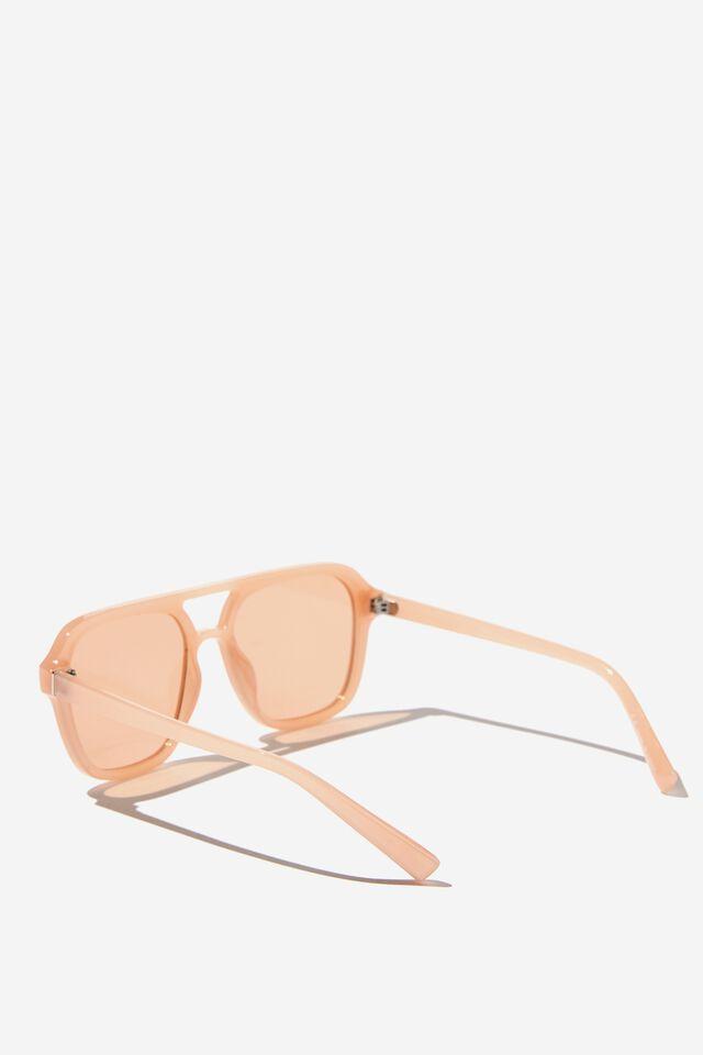 Jaz Oversized Aviator Sunglasses, MILKY ROSE