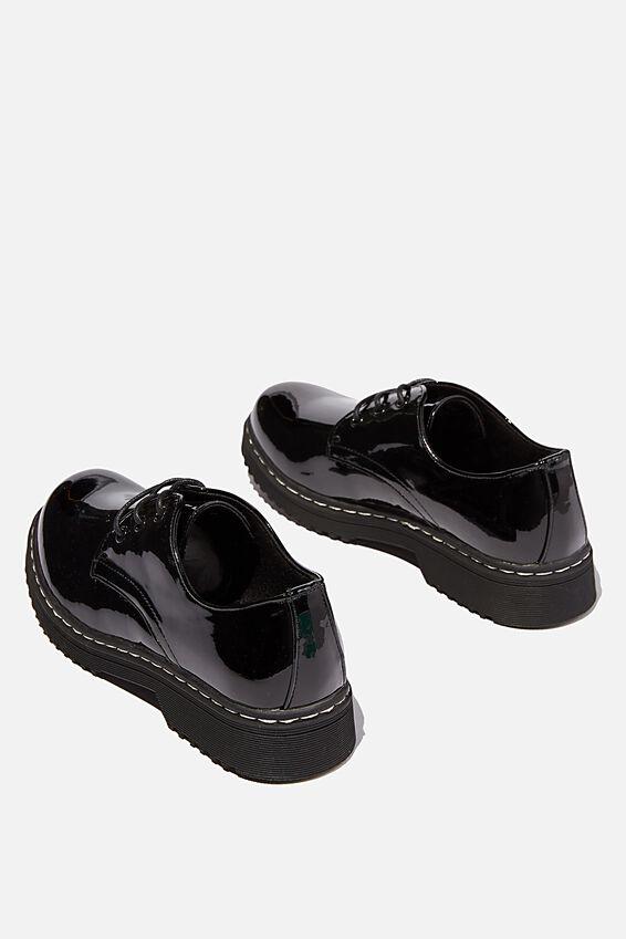Andy Oxford Shoe, PATENT BLACK PU