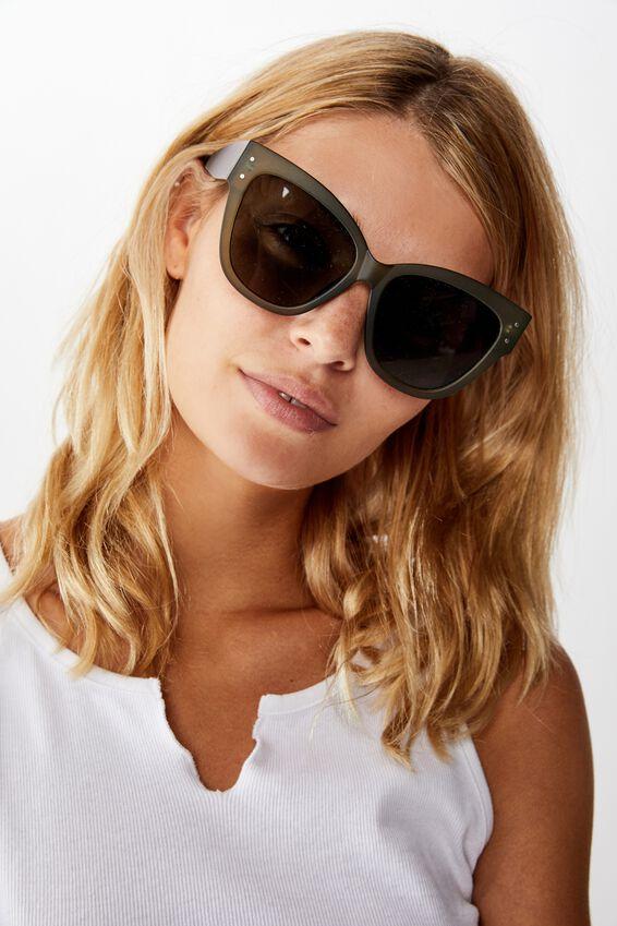 Lee Oversized Sunglasses, MATTE KHAKI