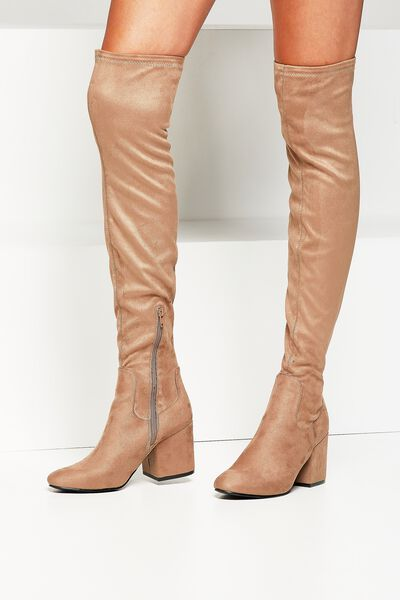 Floyd Over The Knee Boot, TAUPE
