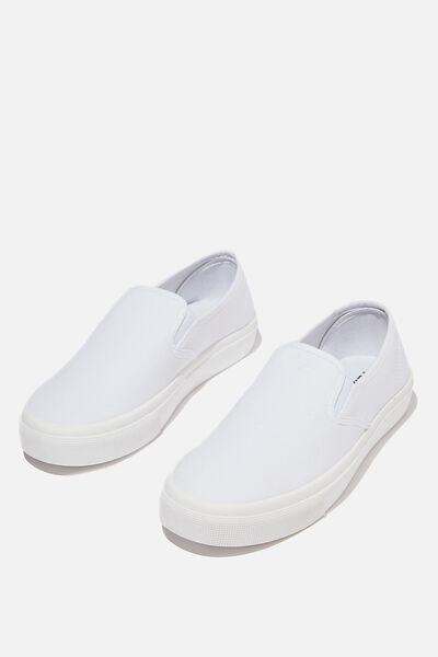 Harper Slip On, WHITE CANVAS